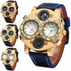 cheap Shiweibao 1109 Decorative Thermometer Male Dual Movt Quartz Watch with Compass Function