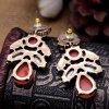 Pair of Alloy Faux Gem Decorated Water Drop Shape Earrings deal
