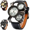 cheap Shiweibao 1106 Cool Dial Three Movt Men Quartz Watch with Leather Band
