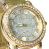YTwatch Golden Color Shiny Diamond Lady Quartz Watch with Stainless Steel Body deal