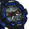 Gobu 1531 Dual Movt LED Sports Military Watch 30M Water Resistance Rubber Band for sale