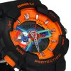 best Gobu 1532 Dual Movt LED Military Watch Rubber Band Water Resistance for Outdoor Sports