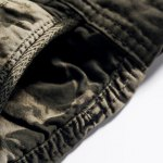 best Military Style Stylish Camo Design Multi-Pocket Straight Leg Cotton Blend Shorts For Men