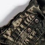 Military Style Stylish Camo Design Multi-Pocket Straight Leg Cotton Blend Shorts For Men photo