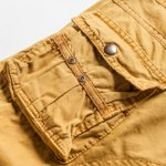 best Military Style Stylish Multi-Pocket Solid Color Straight Leg Cotton Blend Shorts For Men
