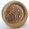 Cute Openwork White Lace Ribbon Decorated Straw Hat For Women photo