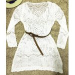 Long Sleeve Hollow Out Swimwear Cover-Ups deal