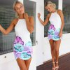 best Sexy Spaghetti Strap Backless Floral Print Women's Dress