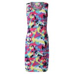 Sexy Scoop Neck Sleeveless Colorful Women's Dress for sale