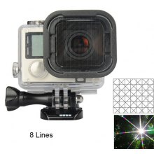 8 - Point Night View Photograph Starburst Filter Lens Protector for GoPro Hero 3+ / 4