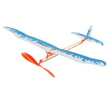 DIY Rubber Band Powered Glider Inertial Plane Model Intelligent Toy