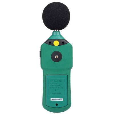 MASTECH MS6702 Digital Sound Level Meter Decibel Noise Meter 30dB to 130dB with Clock and Calendar Function