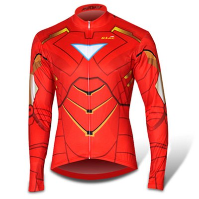 Elastic Men Breathable Long Sleeved Cycling Jersey and Pants Set with YKK Zipper Size XXS  -  4XL