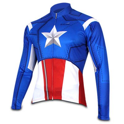 Гаджет   Elastic Men Breathable Long Sleeved Cycling Jersey and Pants Set with YKK Zipper Size XXS  -  4XL Cycling