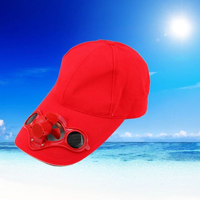 Solar Power Hat with Mini Air Fan