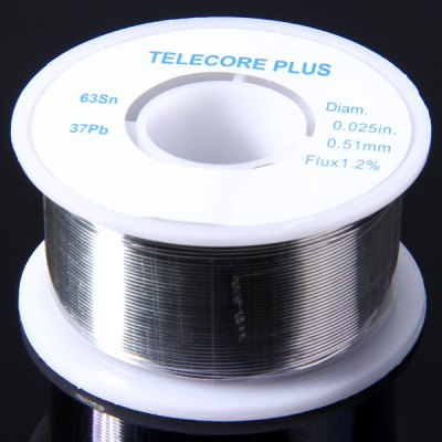 WLXY 0.51mm Diam Tin Lead Melt Rosin Core Solder Wire Reel Flux 1.2 Percent