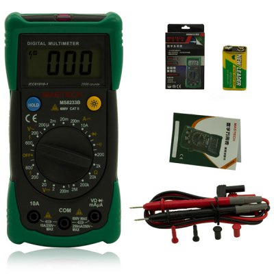 ФОТО MASTECH MS8233B Professional Data Hold Digital Multimeter Support Diode Check / Continuity Test