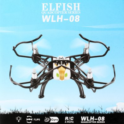ФОТО Weilihua WLH 08 2 in 1 Sky - Ground 6 Axis Gyro 2.4GHz 4CH RC Quadcopter 360 Degree Eversion RTF Drone