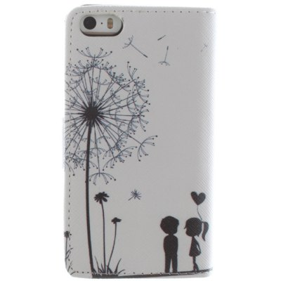 Гаджет   Card Holder PU Leather Phone Cover Case with Dandelion Design for iPhone 5 5S iPhone Cases/Covers