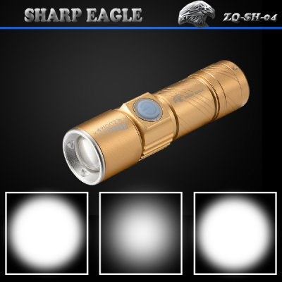 SHARP EAGLE ZQ - SH - 04 Cree Nichi 3 Modes 600Lm Rechargeable LED Flashlight - Neutral White