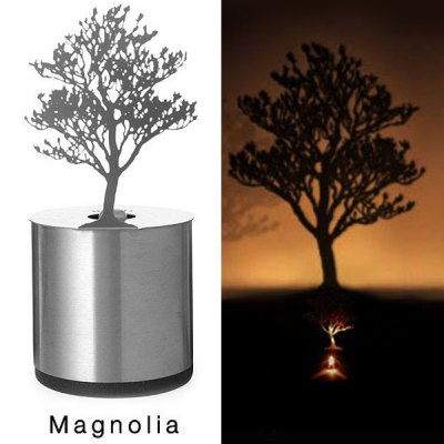 Novel LED Cedar Shadow Projection Night Light Home Candle Decoration Sleeping Lamp
