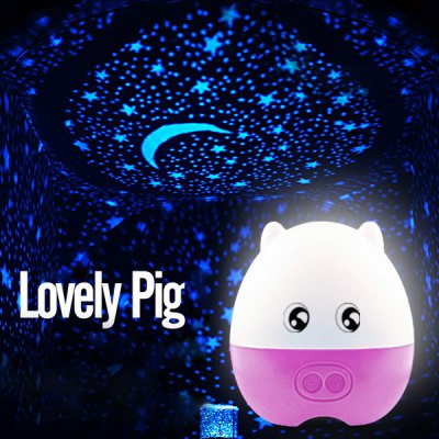 Cartoon Pig Rotating Music Cupid Projection Lamp changeable LED Sleeping LightDecorative Lights<br>Cartoon Pig Rotating Music Cupid Projection Lamp changeable LED Sleeping Light<br><br>Type: Decorative Lighting<br>Decorative Style: Simple and Modern<br>For: Bar, Office, School, Hotel, Home, Student, Other<br>Material: Plastic<br>Features: Creative, Gift, Adjustable brightness<br>Power Supply: Others<br>Product weight   : 0.600 kg<br>Package weight   : 0.848 kg<br>Product size (L x W x H)   : 18 x 19 x 6 cm / 7.07 x 7.47 x 2.36 inches<br>Package size (L x W x H)  : 20 x 22 x 10 cm / 7.86 x 8.65 x 3.93 inches<br>Package Contents: 1 x Projection Lamp