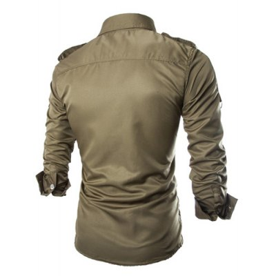 Fashion Uniform Style Shirt Collar Fitted Epaulet and Zipper Design Long Sleeve Polyester Shirt For MenMens Shirts<br>Fashion Uniform Style Shirt Collar Fitted Epaulet and Zipper Design Long Sleeve Polyester Shirt For Men<br><br>Shirts Type: Casual Shirts<br>Material: Polyester<br>Sleeve Length: Full<br>Collar: Turn-down Collar<br>Weight: 0.280KG<br>Package Contents: 1 x Shirt