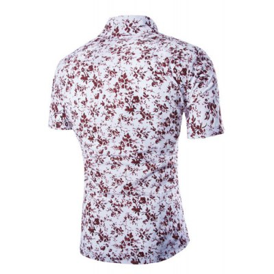 Fashion Shirt Collar Slimming Tiny Floral Print Short Sleeve Polyester Shirt For MenMens Shirts<br>Fashion Shirt Collar Slimming Tiny Floral Print Short Sleeve Polyester Shirt For Men<br><br>Shirts Type: Casual Shirts<br>Material: Polyester<br>Sleeve Length: Short<br>Collar: Turn-down Collar<br>Weight: 0.204KG<br>Package Contents: 1 x Shirt
