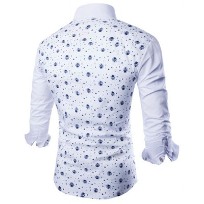 Fashion Shirt Collar Fitted Tiny Skull and Five-Point Star Print Long Sleeve Polyester Shirt For MenMens Shirts<br>Fashion Shirt Collar Fitted Tiny Skull and Five-Point Star Print Long Sleeve Polyester Shirt For Men<br><br>Shirts Type: Casual Shirts<br>Material: Polyester<br>Sleeve Length: Full<br>Collar: Turn-down Collar<br>Weight: 0.240KG<br>Package Contents: 1 x Shirt
