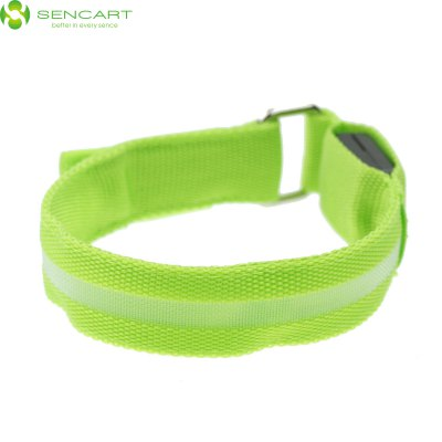 Sencart 3 Mdoes LED Flashing Wristband Bracele Stage Props Armband for Outdoors Sports Rave PartyIndoor Lights<br>Sencart 3 Mdoes LED Flashing Wristband Bracele Stage Props Armband for Outdoors Sports Rave Party<br><br>Brand: Sencart<br>Type: Armband<br>Other function: Steady on &gt; Fast strobe &gt; Slow strobe (Controlled by Switch)<br>Optional size: Small size<br>Optional color: Yellow, Red, Pink, Blue, Green, Orange<br>Material: PVC<br>Product weight: 0.035 kg<br>Package weight: 0.110 kg<br>Product size (L x W x H): 32 x 2.5 x 0.2 cm / 12.58 x 0.98 x 0.08 inches<br>Package size (L x W x H): 10 x 5 x 4 cm / 3.93 x 1.97 x 1.57 inches<br>Package Contents: 1 x LED Light Armband