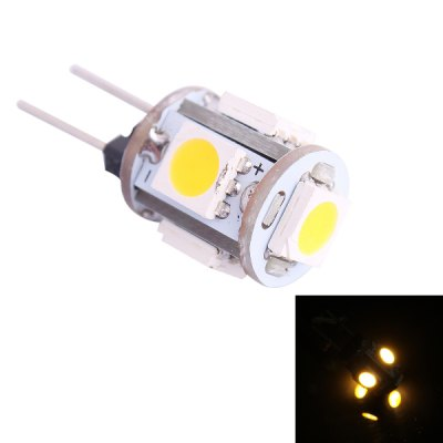 G4 0.5W 45LM 3000K 5 x SMD 5050 LED Warm White LED Light Bulb ( DC 12V )