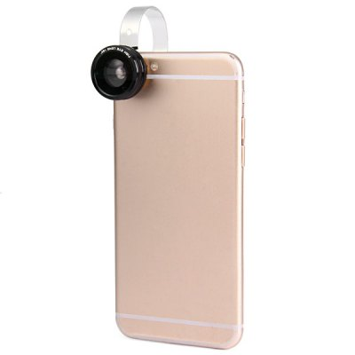 ФОТО HE - 011 Fashionable 3 in 1 Clamp Camera Lens Fisheye Macro and Wide Angle for iPhone 6 / 6 Plus iPad Samsung and Most of Smart Phone