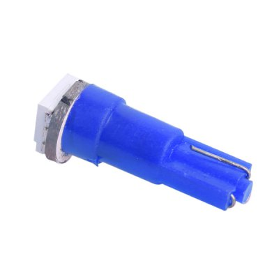 Фотография T5 0.5W 14LM 445nm SMD - 5050 Blue LED Car Instrument Light ( DC 12V )