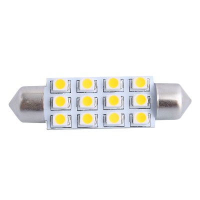 42mm 3W 150LM 12 x SMD 3528 3000K Double Pointed LED Car Reading Bulb / License Plate / Door Lamp DC 12VLED Light Bulbs<br>42mm 3W 150LM 12 x SMD 3528 3000K Double Pointed LED Car Reading Bulb / License Plate / Door Lamp DC 12V<br><br>Type: Car Light<br>Car light type: Reading Light, Door lamp, License Plate Light<br>Connector: Double pointed<br>Lumens: 150LM<br>LED: 12 x SMD-3528 LED<br>Color Temp: 3000K<br>Available Light Color: Warm White<br>Wattage (W): 3<br>Voltage (V): DC 12<br>Product weight: 0.003 kg<br>Package weight: 0.03 kg<br>Product size (L x W x H): 4.2 x 1.2 x 0.7 cm / 1.65 x 0.47 x 0.28 inches<br>Package size (L x W x H): 6 x 3 x 3 cm / 2.36 x 1.18 x 1.18 inches<br>Package Contents: 1 x LED Car Light