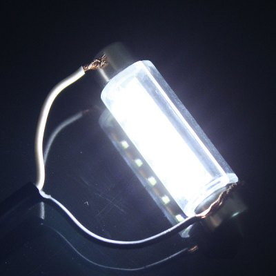 Фотография 43mm 3.5W 160LM 6000K 15 x SMD 3020 Double Pointed LED for Car Reading / License Plate / Door Lamp 12V