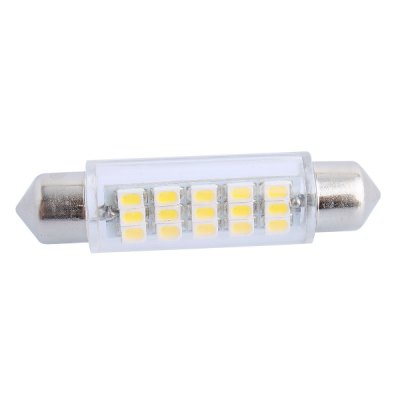 43mm 3.5W 160LM 6000K 15 x SMD 3020 Double Pointed LED for Car Reading / License Plate / Door Lamp 12V