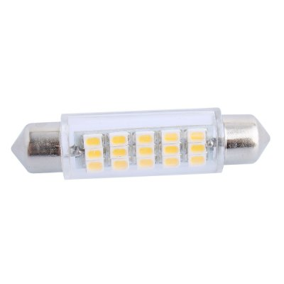 43mm 3.5W 160LM 3000K SMD 3020 15 LEDs Car Light Double Pointed
