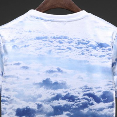 Фотография Summer Hot Sale Funny Animal Cat 3D Print Fashion Round Neck Fitted Short Sleeves Men