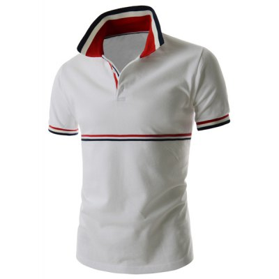 Trendy Fitted Turn-down Collar Stripes Splicing Color Block Short Sleeves Mens Polyester Polo T-ShirtMens Short Sleeve Tees<br>Trendy Fitted Turn-down Collar Stripes Splicing Color Block Short Sleeves Mens Polyester Polo T-Shirt<br><br>Material: Cotton, Polyester<br>Sleeve Length: Short<br>Collar: Turn-down Collar<br>Style: Fashion<br>Weight: 0.320KG<br>Package Contents: 1 x Polo T-Shirt<br>Embellishment: Spliced<br>Pattern Type: Striped