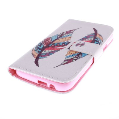 Гаджет   Colorful Feathers Design PU Leather Cover Case with Stand and Card Holder for HTC One M9 Other Cases/Covers