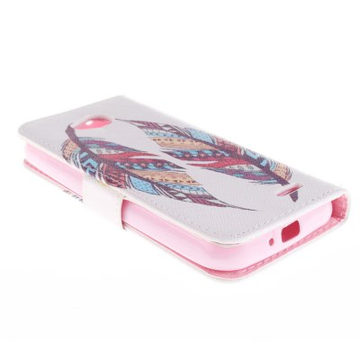 Гаджет   Mixed Color Feather Design PU Full Body Cover Case with Stand for LG L90 D405 Other Cases/Covers