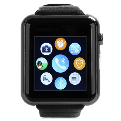 ФОТО D Watch 2 Smart Watch Bluetooth 3.0 Genuine Leather Band GSM Phone with Sedentary Reminder