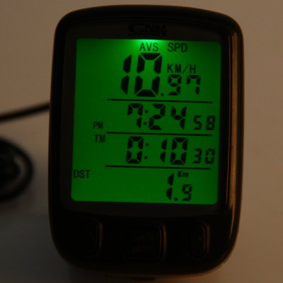 Фотография SD  -  563A Large LCD Screen Wired Bicycle Computer Velometer Clock Function
