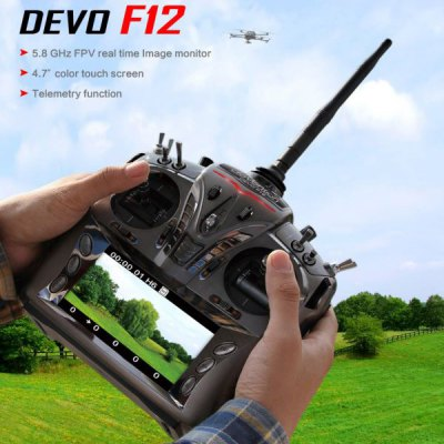 Walkera 5.8G FPV Monitor DEVO F12 RC Transmitter with 4.7inch Color Touch Screen