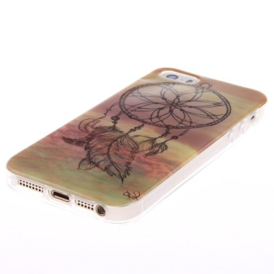 Гаджет   TPU Leather Apricot Blossom Pattern Hard Back Cover Case for iPhone 5 / 5S iPhone Cases/Covers