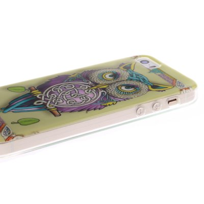 Фотография TPU Leather Owl Design Pattern Hard Back Cover Case for iPhone 5 / 5S