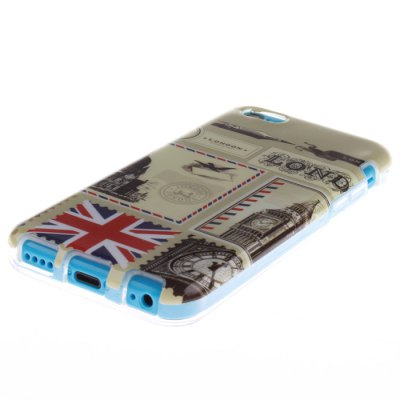 Гаджет   TPU Material Protective Back Case Cover Stamp Pattern for iPhone 5C iPhone Cases/Covers