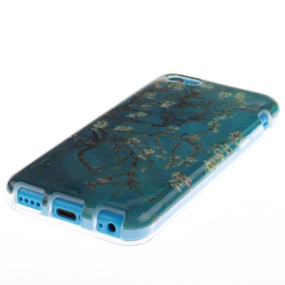 ФОТО TPU Material Protective Back Case Cover Apricot Blossom Pattern for iPhone 5C