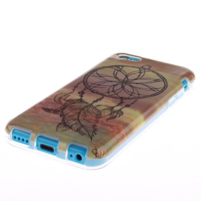 TPU Leather Windbell Pattern Hard Back Cover Case for iPhone 5C