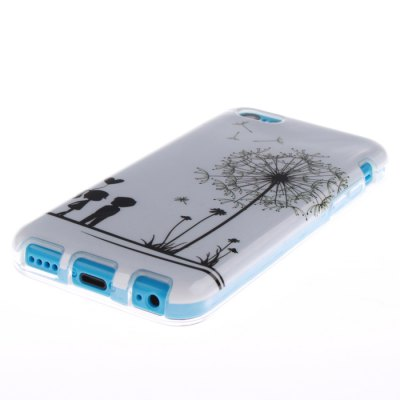ФОТО TPU Material Protective Back Case Cover Dandelion and Lovers Pattern for iPhone 5C